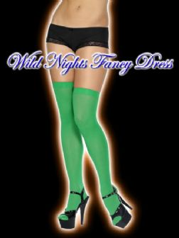 CHRISTMAS FANCY DRESS # GREEN THIGH HIGH STOCKINGS